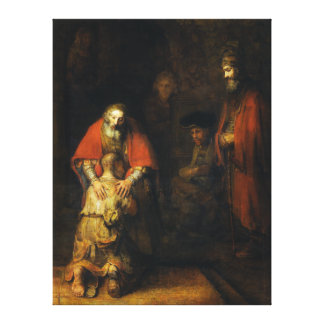 Return of the Prodigal Son by Rembrandt Canvas Print