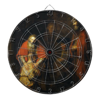 Return of the Prodigal Son by Rembrandt Dartboard With Darts