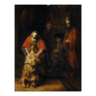 Return of the Prodigal Son by Rembrandt Poster