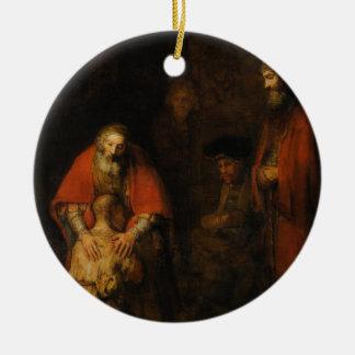 Return of the Prodigal Son by Rembrandt van Rijn Ceramic Ornament
