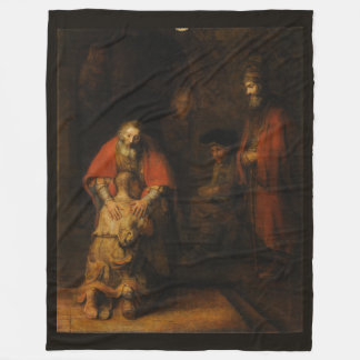 Return of the Prodigal Son by Rembrandt van Rijn Fleece Blanket