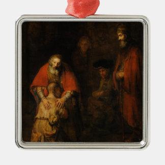 Return of the Prodigal Son by Rembrandt van Rijn Metal Ornament