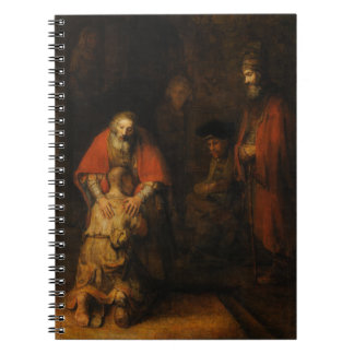 Return of the Prodigal Son by Rembrandt van Rijn Spiral Notebooks