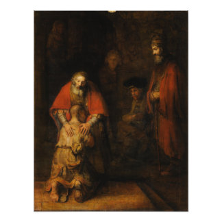 Return of the Prodigal Son by Rembrandt van Rijn Photograph