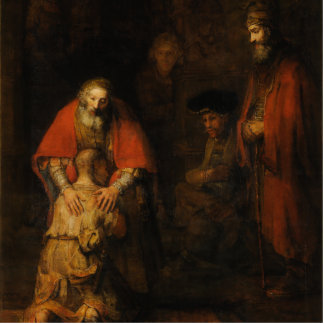 Return of the Prodigal Son by Rembrandt van Rijn Acrylic Cut Outs