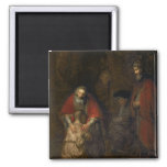 Return of the Prodigal Son, c.1668-69 2 Inch Square Magnet