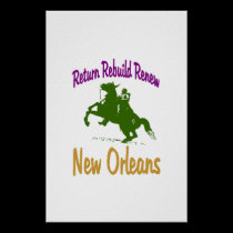 Return Rebuild Renew New orleans Jackson Square posters