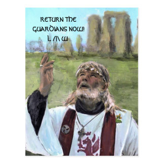 RETURN THE GUARDIANS NOW! L/|\W POSTCARD