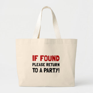 Return To Party Large Tote Bag