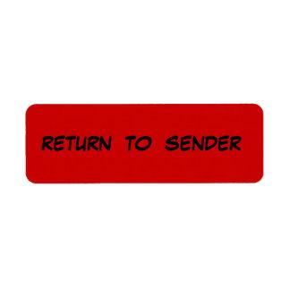 RETURN TO SENDER Avery Label Return Address Label