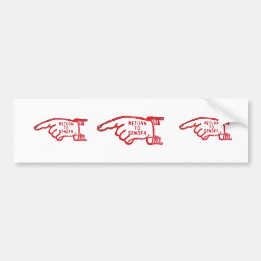 Return To Sender Bumper Stickers