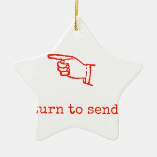 Return to Sender Ceramic Ornament