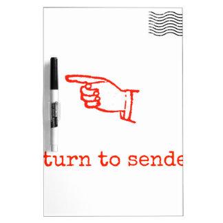 Return to Sender Dry-Erase Board