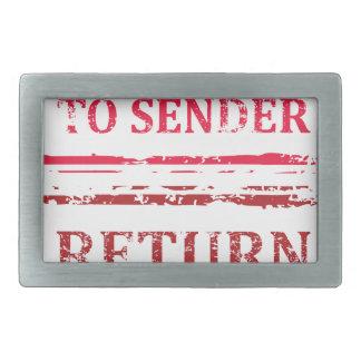 Return To Sender Grunge Stamp Belt Buckle