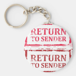 Return To Sender Grunge Stamp Keychain
