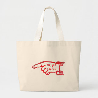 Return To Sender Large Tote Bag