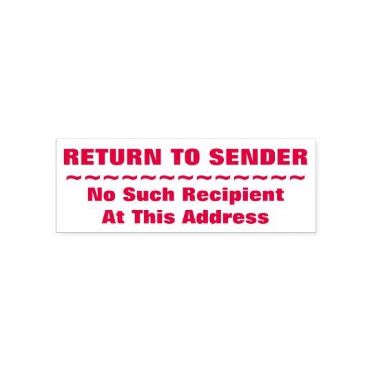 RETURN TO SENDER No Such Recipient
