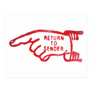 Return To Sender Postcard