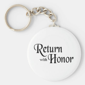 Return With Honor Basic Round Button Keychain