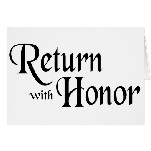Return With Honor Card