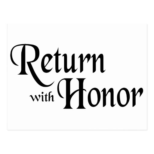 Return With Honor Postcard