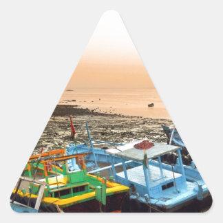 Returning Boats Triangle Sticker
