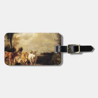 Returning From Pasture by Constant Troyon Bag Tag