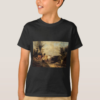 Returning From Pasture by Constant Troyon T-Shirt