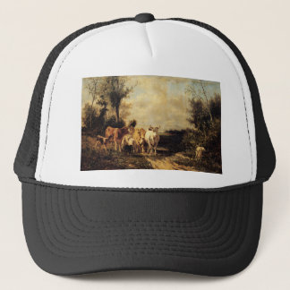 Returning From Pasture by Constant Troyon Trucker Hat