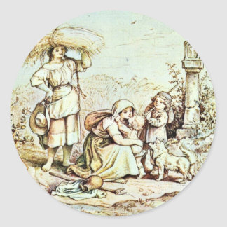 Returning From The Field By Richter Ludwig Sticker