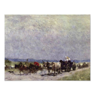 Returning Home From The Fair By Grigorescu Nicolae 4.25x5.5 Paper Invitation Card