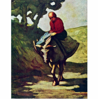 Returning Home From The Market,  By Daumier Honoré Acrylic Cut Outs