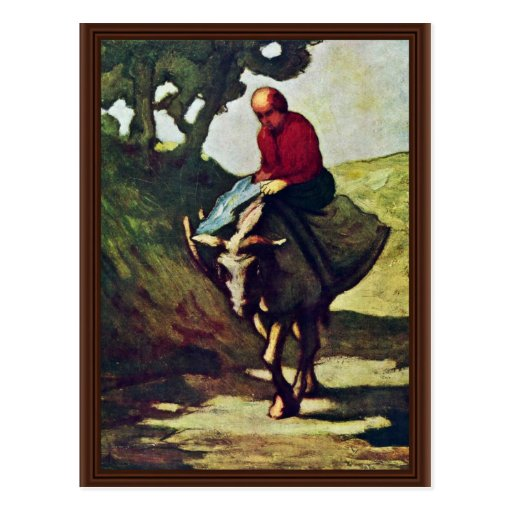 Returning Home From The Market,  By Daumier Honoré Postcard