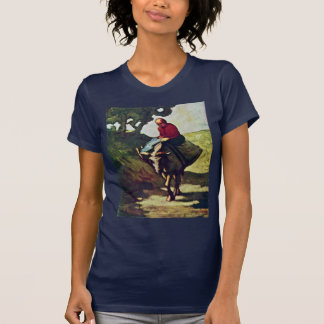 Returning Home From The Market,  By Daumier Honoré Tees
