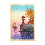 Returning Sailboat at Yabase Tsuchiya Koitsu hanga Canvas Print