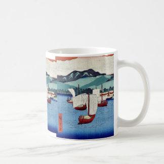 Returning sails at Yabase by Ando, Hiroshige Ukiyo Coffee Mug