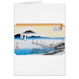 Returning Sails at Yabase, Japan circa 1834-1835 Card