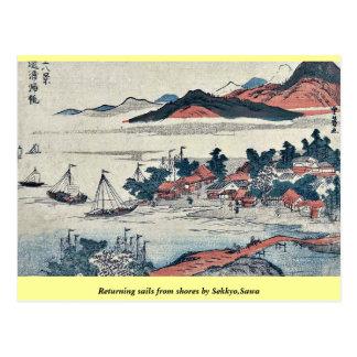 Returning sails from shores by Sekkyo,Sawa Postcards