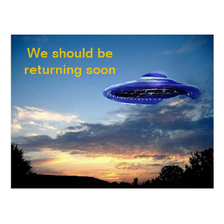 Returning soon postcards