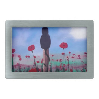 Returning to the Poppies Rectangular Belt Buckle