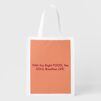Reuasable Grocery Bag with important message!