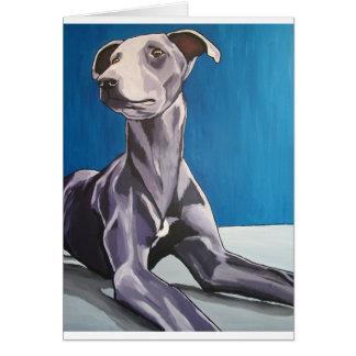 'Reuben Bluedog' - lurcher Card