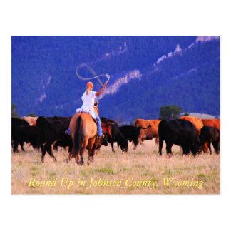 Reúna en el condado de Johnson, Wyoming Tarjeta Postal
