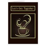 Reunamos la tarjeta de felicitación del café