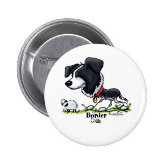 Reuniendo el perro - botón del border collie pin redondo de 2 pulgadas