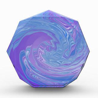 Reuniéndolo arte abstracto a púrpura y azul