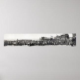 REUNIÓN 1911 DE LA MOTOCICLETA DE LA PLAYA DE PÓSTER