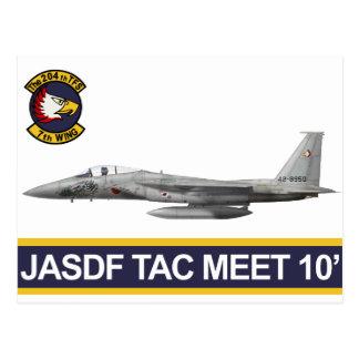 reunión 2010 del aire del 飛行隊戦競塗装 2010 JASDF Tac d Tarjeta Postal