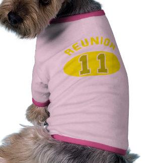 Reunión 2011 en amarillo ropa de mascota
