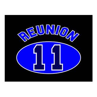 Reunion 2011 in Blue Postcard